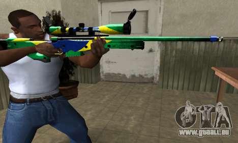 Three Colors Sniper Rifle für GTA San Andreas