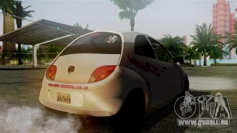 Ford Ka El Patan pour GTA San Andreas laissé vue