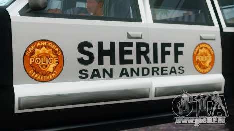 Police 4-door Yosemite für GTA San Andreas rechten Ansicht