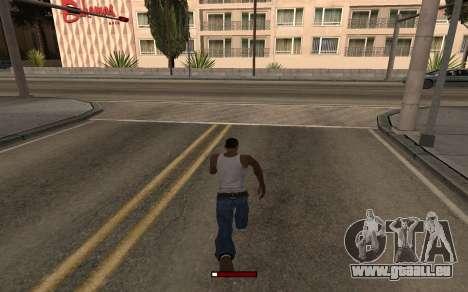 SprintBar pour GTA San Andreas deuxième écran