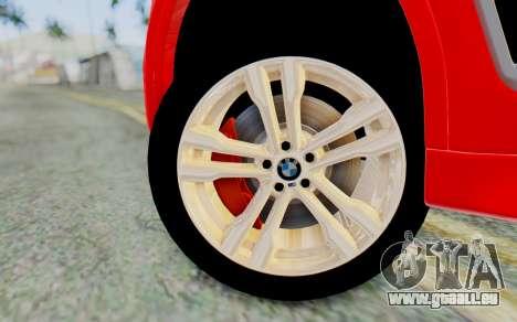 BMW X6M pour GTA San Andreas sur la vue arrière gauche