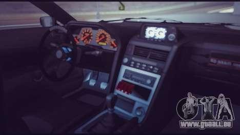 Elegy Lumus pour GTA San Andreas vue de dessous