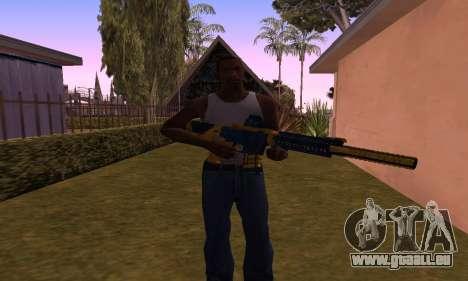 M4 BlueYellow für GTA San Andreas dritten Screenshot