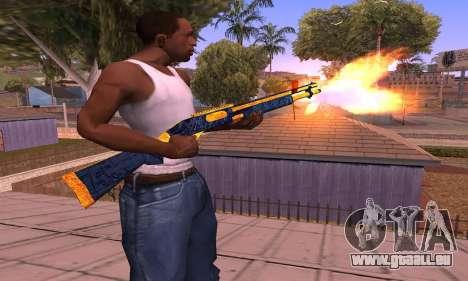 Shotgun BlueYellow für GTA San Andreas zweiten Screenshot