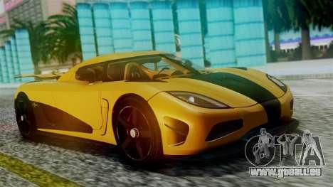 NFS Rivals Koenigsegg Agera R Racer für GTA San Andreas Innenansicht