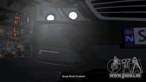 Mercedes-Benz E-Class 2015 Norwegian Police pour GTA 4 est une vue de l'intérieur