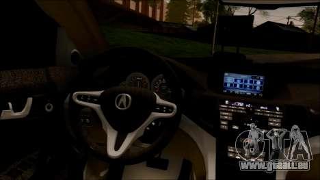 Acura RDX 2009 pour GTA San Andreas vue intérieure
