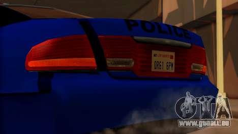 Police HSV VT GTS SA Style für GTA San Andreas Rückansicht