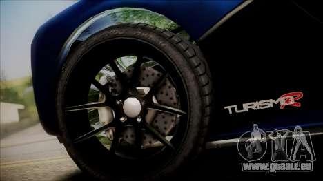 GTA 5 Grotti Turismo R SA Style pour GTA San Andreas sur la vue arrière gauche
