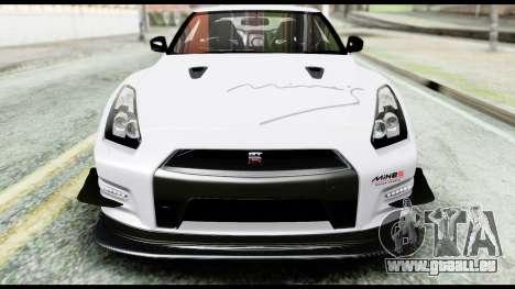 Nissan GT-R R35 2012 pour GTA San Andreas vue de dessus