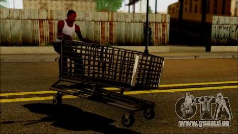 Der trolley im Supermarkt für GTA San Andreas