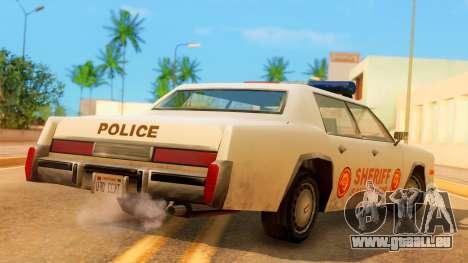 4-door Police Esperanto pour GTA San Andreas laissé vue