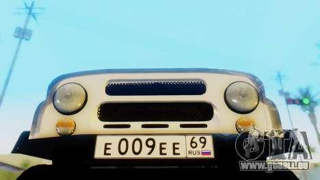 UAZ hunter pour GTA San Andreas vue arrière