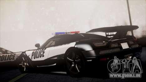 NFS Rivals Koenigsegg Agera R pour GTA San Andreas sur la vue arrière gauche
