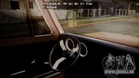 Chevrolet Veraneio pour GTA San Andreas sur la vue arrière gauche