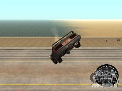 Indicateur de vitesse de GAZ 52 pour GTA San Andreas troisième écran