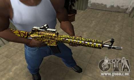 Yellow Jungle M4 für GTA San Andreas
