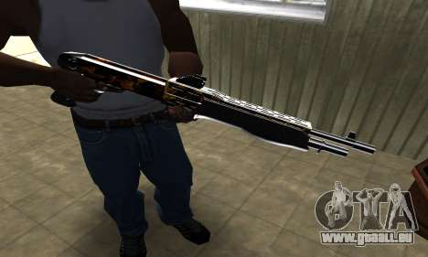 Brighty Yellow Combat Shotgun für GTA San Andreas dritten Screenshot