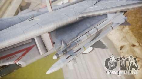 F-14B Bombcat VF-11 Red Rippers pour GTA San Andreas vue de droite