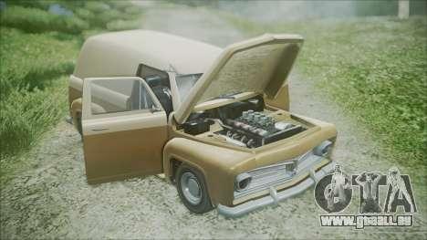 GTA 5 Vapid Slamvan für GTA San Andreas Rückansicht