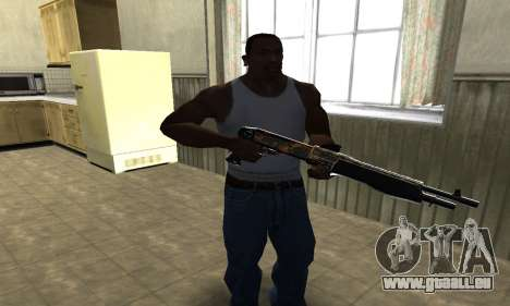 Brighty Yellow Combat Shotgun für GTA San Andreas zweiten Screenshot