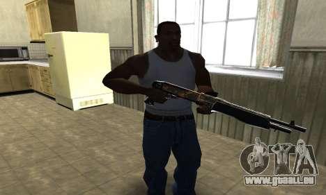 Brighty Yellow Combat Shotgun pour GTA San Andreas deuxième écran