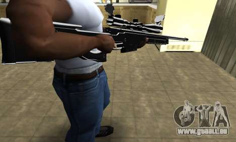 Full Black Sniper Rifle für GTA San Andreas