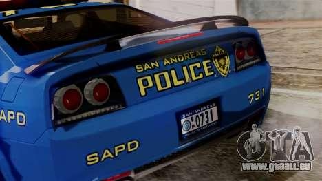 Hunter Citizen from Burnout Paradise SAPD pour GTA San Andreas vue intérieure