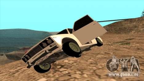 HUNTER 2106 Ostentum pour GTA San Andreas sur la vue arrière gauche