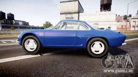 Renault Alpine A110 1973 pour GTA 4 est une gauche