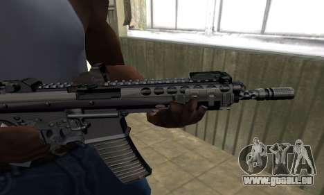 Full Black Automatic Gun für GTA San Andreas zweiten Screenshot