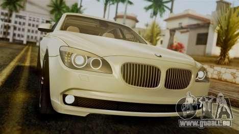 BMW 7 Series F02 2012 pour GTA San Andreas vue arrière