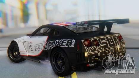 Nissan GT-R GT1 Sumo pour GTA San Andreas laissé vue