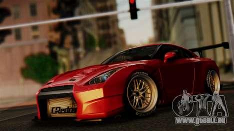 Nissan GT-R R35 Bensopra 2013 pour GTA San Andreas vue de dessus