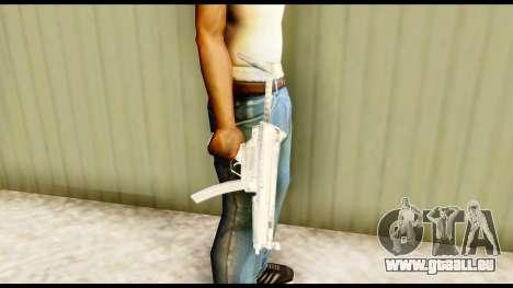 MP5 avec un stock pour GTA San Andreas troisième écran