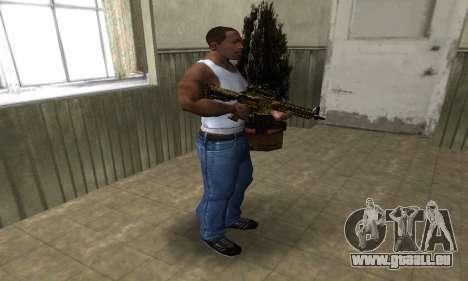 Yellow Jungle M4 pour GTA San Andreas troisième écran