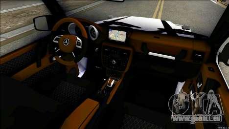 Mercedes-Benz G65 Hamann 2013 für GTA San Andreas Rückansicht
