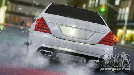 Mercedes-Benz S65 AMG Vossen pour GTA 4 Vue arrière de la gauche