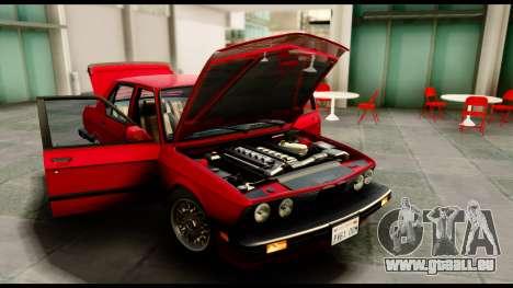 BMW M5 E28 1985 NA-spec für GTA San Andreas rechten Ansicht