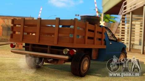 Premier Country Pickup pour GTA San Andreas laissé vue