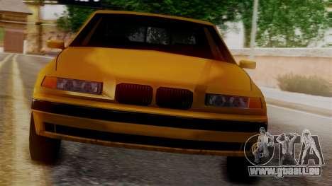 BMW M3 E36 SA Style pour GTA San Andreas sur la vue arrière gauche