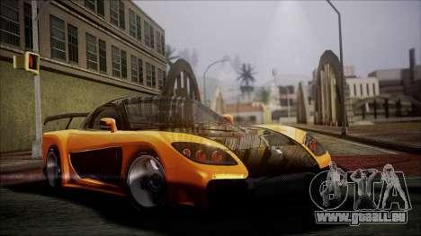 Mazda RX-7 Veilside für GTA San Andreas rechten Ansicht