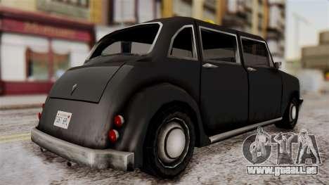 London Cab pour GTA San Andreas laissé vue