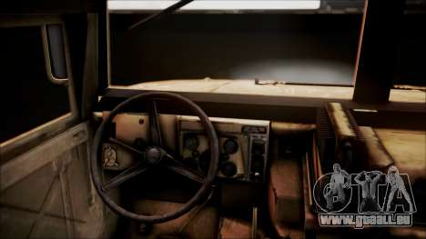 Polish HMMWV für GTA San Andreas Rückansicht