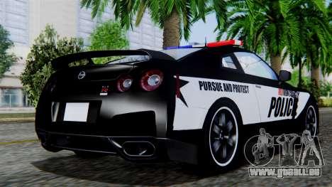 NFS Rivals Nissan GT-R R35 pour GTA San Andreas laissé vue