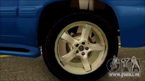 Toyota Land Cruiser 100 UAE Edition pour GTA San Andreas vue de droite