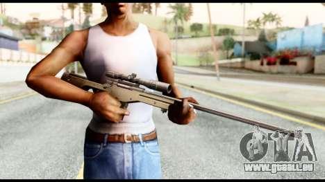 AWM L115A1 pour GTA San Andreas troisième écran