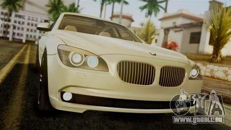 BMW 7 Series F02 2012 pour GTA San Andreas vue intérieure