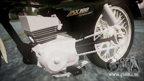 Suzuki AX 100 pour GTA San Andreas vue de droite