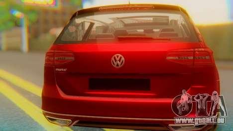 Volkswagen Passat Variant R-Line pour GTA San Andreas vue intérieure